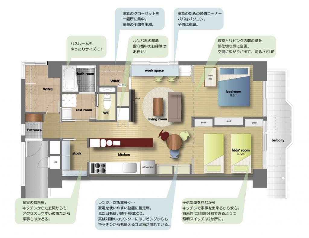 リフォーム,家,家事楽style,after plan
